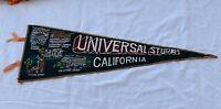 Universal Studios Pennant California Felt Banner Souvenir 1970's Japan vintage