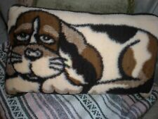 WOOL ACCENT PILLOW DOG SHAPE EUROPEAN MADE WOOL GERMANY LARGE 25 X 16 NEW