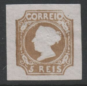 Portugal - 1864 reprint of the 5r Red-Brown - 4 Margins - Mint no gum -SG 1 or 2