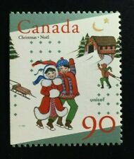 Canada #1629as Left MNH, Unicef and Christmas Booklet Stamp 1996