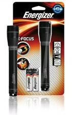 New Energizer X-Focus metal torch Plus 2x AA Compact and lightweight in Black