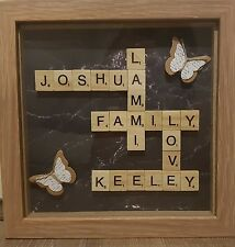"PERSONALISED scrabble  Frame. 8""X8""Perfect gift for special occasions"