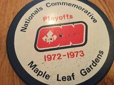 WHA Ottawa Nationals vintage blue Puck Toronto Maple Leaf Gardens 1972-73