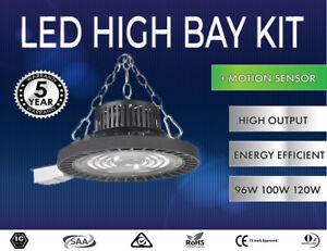 LED Highbay Lights 86W 96W 120W LED High Bay Kit - BONUS SENSOR
