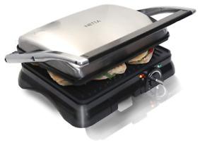 Large 4 Slice Panini Maker Sandwich Toaster 2000W Grade A Refurb EU PLUG