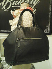 Genuine ABACO PARIS Designer-Blk Calf Leather Hide Tote/Shopper Handbag RRP 449