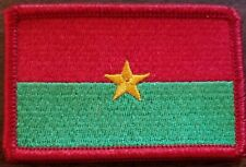 BURKINA FASO Flag Iron-On Patch West Africa Tactical Morale Emblem Red Border