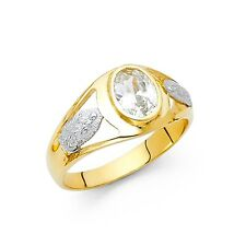 Guadalupe Ring Solid 14k Yellow White Gold Vi28in Mary Band Religious Mens Fancy