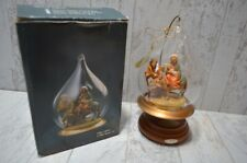 Roman Fontanini Flight Into Egypt Blown Glass Christmas Ornament Musical