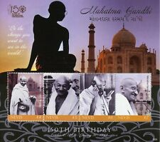 Nevis Famous People Stamps 2018 MNH Mahatma Gandhi 150th Birth Anniv 4v M/S