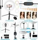 """10"""" LED Selfie Ring Light with Tripod Stand, 3 Dimmable Modes & 10..."""