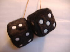 """1 FUZZY DICE BLACK  3"""" INCHES HANG ON  YOUR CAR MIRROR"""