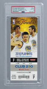 PSA LEBRON JAMES FIRST TITLE 2016 NBA FINALS GAME 7 FULL TICKET CAVALIERS LAKERS