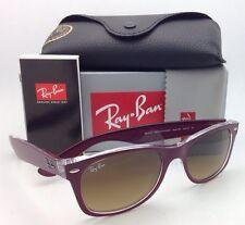 RAY-BAN Sunglasses RB 2132 6054/85 52-18 NEW WAYFARER Burgundy-Clear/Brown Fade