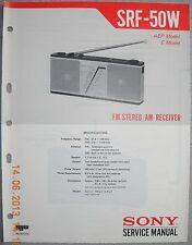 Sony srf-50w 2-band Stereo Radio Service Manual