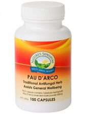 NATURE'S SUNSHINE Pau D'arco 500mg 100 capsules natures antifungal antimicrobial