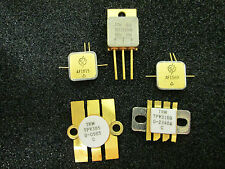 5 psc Rare Collectible MIXED TRANSISTORS  GOLD PLATED VINTAGE Military