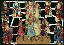 # GLANZBILDER # EF 7255 alte Motive : nostalgische Weihnachtsmänner mit GLIMMER