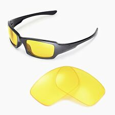 New Walleva Yellow Replacement Lenses For Oakley Fives Squared Sunglasses