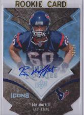 BEN MOFFITT Texans USF 2009 UD Icons HOLOFOIL DIE-CUT Autograph #23/25 SP AUTO
