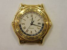 Ebel Voyager 18K Solid Yellow Gold Automatic World Time GMT 38 mm Watch 8124913