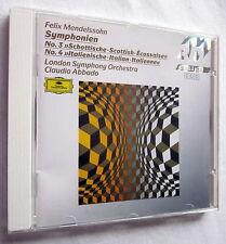 CD - MENDELSSOHN - Symphonien - London Symphony Orchestra / Claudio Abbado