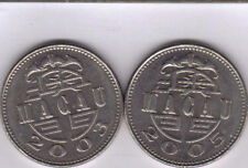 2  DIFFERENT 1 PATACA COINS from MACAU DATING 2003 & 2005