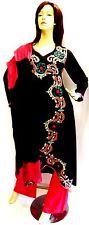 Shalwar kameez black eid pakistani designer salwar sari abaya hijab suit uk 14