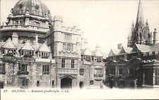 Oxford. Brasenose Quadrangle # 58 by LL / Levy. Black & White.