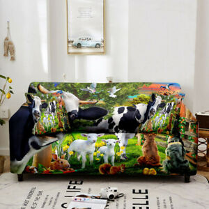 1/2/3/4 Seater Wild Animals Stretch Elastic Couch Sofa Cover Slipcover Protect