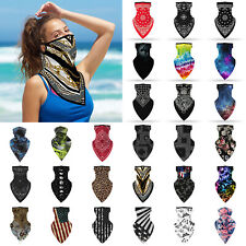 Unisex Outdoor Cycling Bandana Triangle Scarf Neck Tube Ear Hanging Face Cover