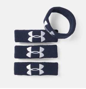"Under Armour Women's Ua 1"" Performance Wristband 4-pack, Dark Blue"
