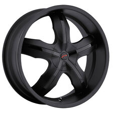 4-NEW Platinum 212B Widow FWD 17x7.5 5x110/5x115 +42mm Matte Black Wheels Rims