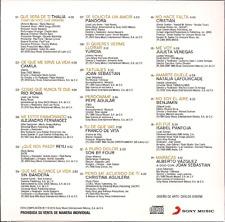 rare POP BALADA CD slip QUE SERA DE TI Thalia CAMILA Rio Roma ISABEL PANTOJA