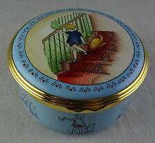 Christopher Robin Halcyon Days Winnie The Pooh Enamel Large Trinket Box Disney