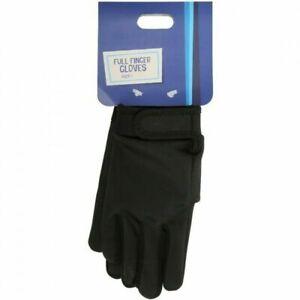Halfords Kids Full Finger Gloves Age 7-10 Years Black Brand New Free P&P