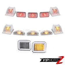 """03-09 Hummer H2 DIAMOND Clear Roof Light+ """"SUPER FLUX"""" LED Corner Light Lamp H2T"""