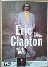ERIC CLAPTON  1990 FRANKFURT + orig. Concert Poster - Konzert Plakat 118 x 84 cm