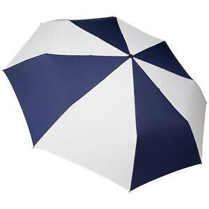 totes Auto Open Close Golf Size Umbrella, Navy/White, One Size