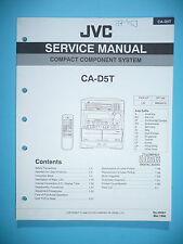 instrucciones Manual de servicio para JVC CA-D5T ,ORIGINAL