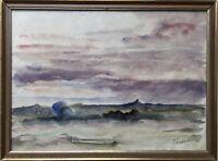 IMPRESSIONIST PER FREDRIKS (1887-1947) ABENDSONNE - SCHWEDEN FINNLAND ? 27,5X37