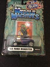 2003 MUSCLE MACHINES  32 FORD ROADSTER BLACK ADULT COLLECTIBLE 1/64 DIE CAST