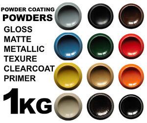 Powder Coating Paint Powder 1KG RAL Colors Gloss Matte Clearcoat Metallic Primer