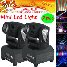 2Pcs 50W Minin LED Moving Head Stage Light Beam RGBW DMX Strobe 11/13CH Bright