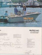 Motorola Nautilus 220 440 VHF Marine Radio Triton Series Manual and Schematic
