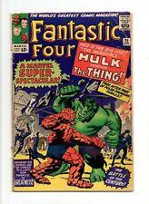 Fantastic Four #25 VINTAGE Marvel Comic KEY Hulk vs Thing Cover Silver Age 12c