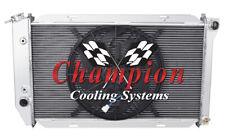 "2 Row Perf Champion Radiator W/ 16"" Fan for 1972 - 1976 Ford Torino V8 Engine"