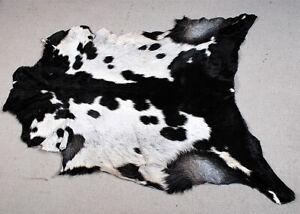 "New Goat hide Rug Hair on Area Rug Size 36""x24"" Animal Leather Goat Skin U-5639"