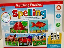 Master Kids Pieces 60 Big Pieces Spelling Matching Puzzles