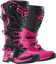 FOX RACING COMP 5 MX BOOTS MOTOCROSS BLACK/PINK ADULT WOMEN SIZE: 7 16450-285-7